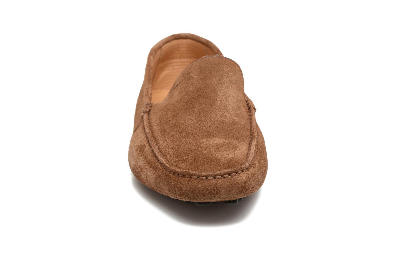 Mocassins Santoni Wellington 14336 Marron vue portées chaussures