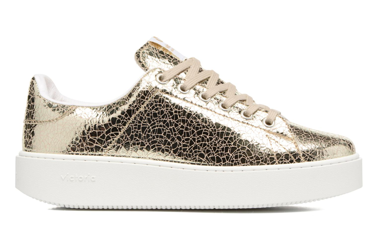 Trainers Victoria Deportivo Basket Tejido Met Bronze and Gold back view