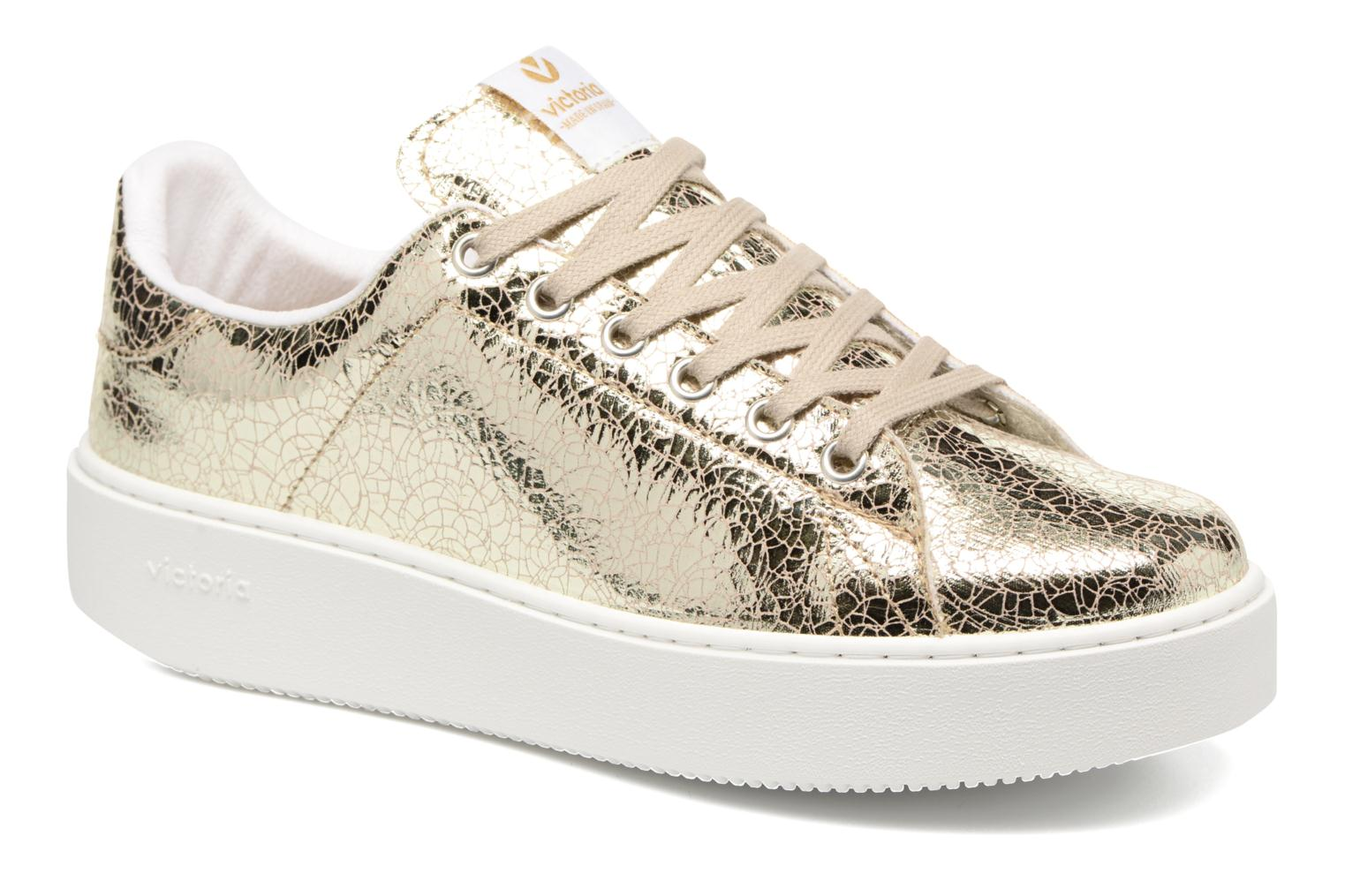 Trainers Victoria Deportivo Basket Tejido Met Bronze and Gold detailed view/ Pair view