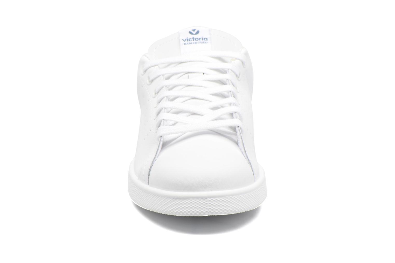 Baskets Victoria Deportivo Basket Piel M 2 Blanc vue portées chaussures