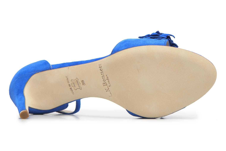 Sandales et nu-pieds L.K. Bennett Claudie Bleu vue haut