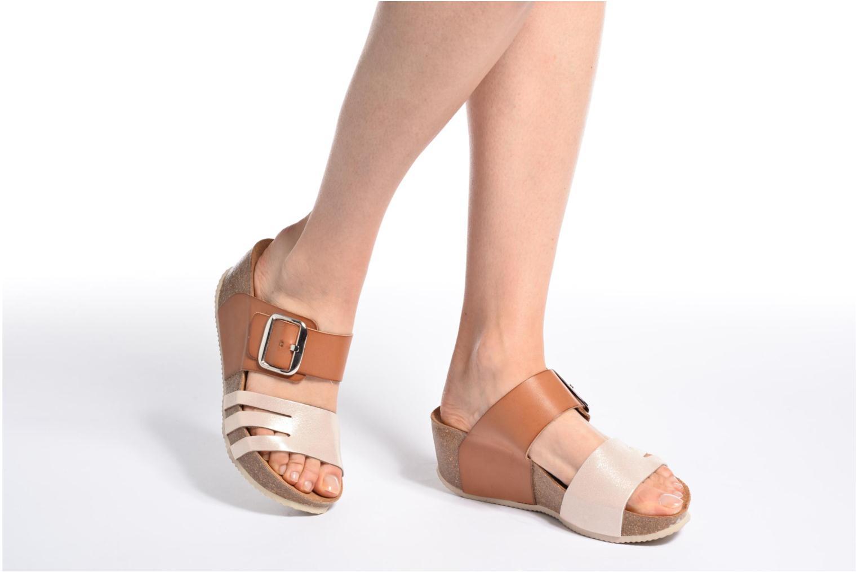 Sandales et nu-pieds Rondinaud Cance Noir vue bas / vue portée sac