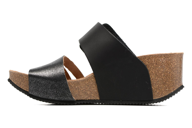 Sandales et nu-pieds Rondinaud Cance Noir vue face
