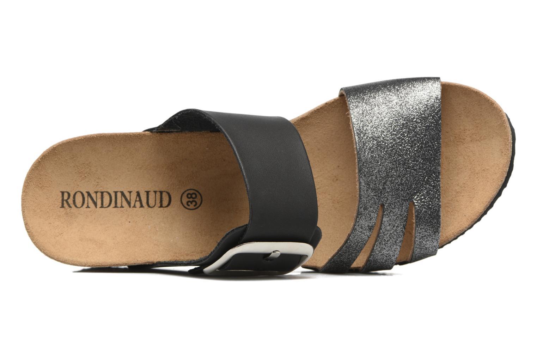 Sandales et nu-pieds Rondinaud Cance Noir vue gauche