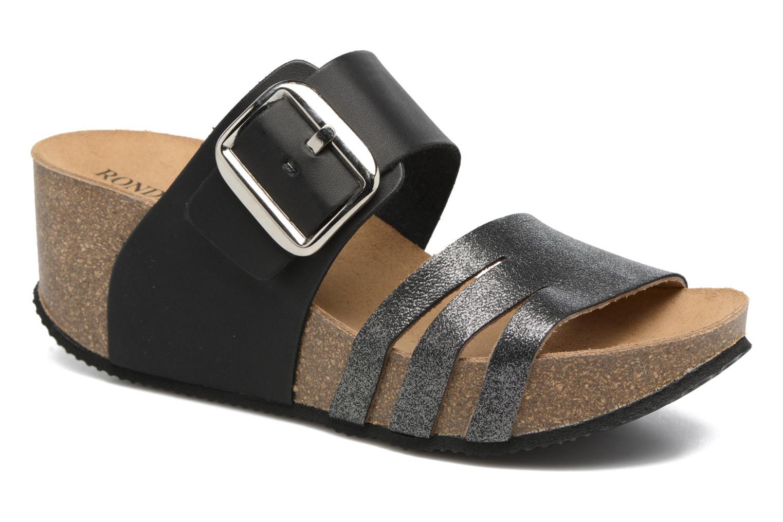 Sandales et nu-pieds Rondinaud Cance Noir vue détail/paire