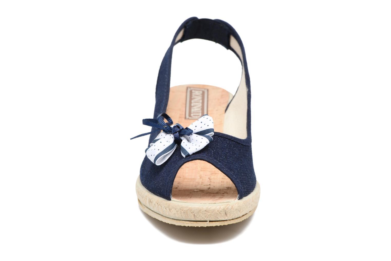 Espadrilles Rondinaud Sarre Bleu vue portées chaussures