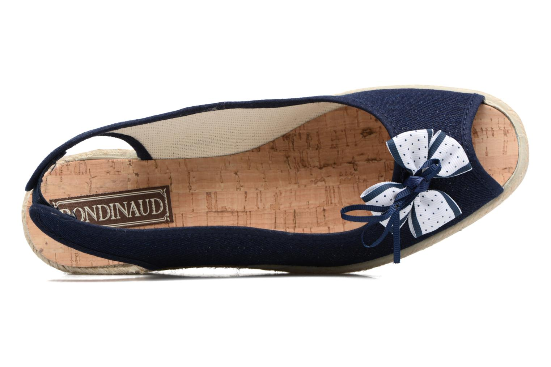 Espadrilles Rondinaud Sarre Bleu vue gauche