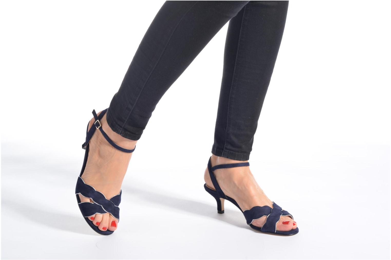 Sandales et nu-pieds Georgia Rose Expato Bleu vue bas / vue portée sac