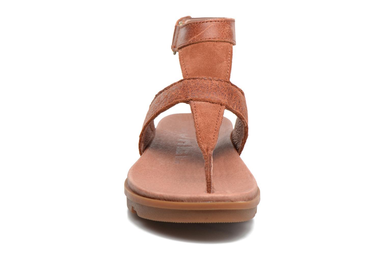 Sandales et nu-pieds Sorel Torpeda Ankle Strap Marron vue portées chaussures