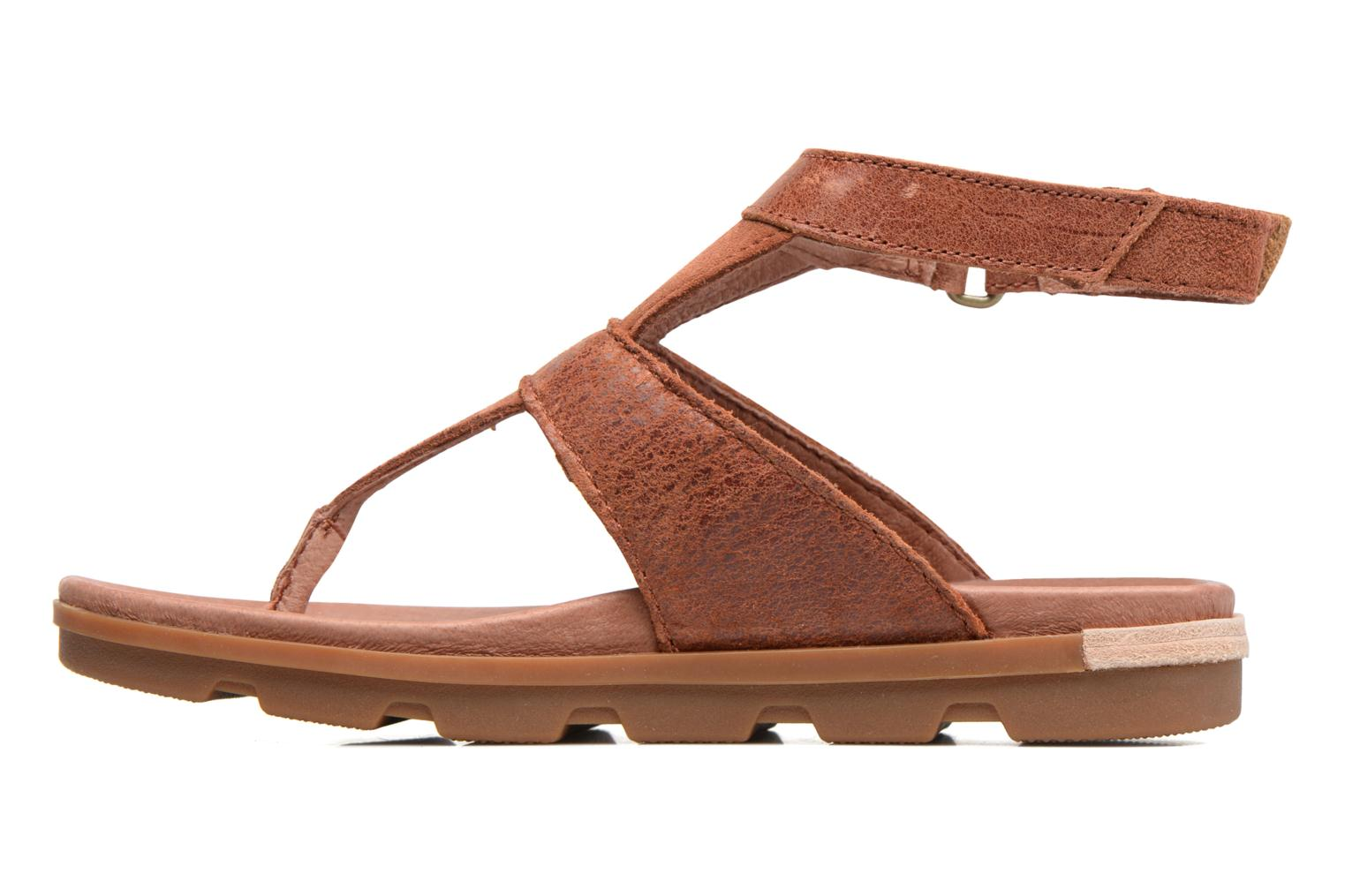 Sandals Sorel Torpeda Ankle Strap Brown front view