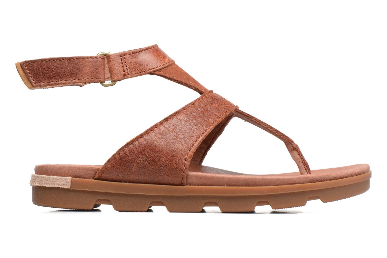 Sandales et nu-pieds Sorel Torpeda Ankle Strap Marron vue derrière