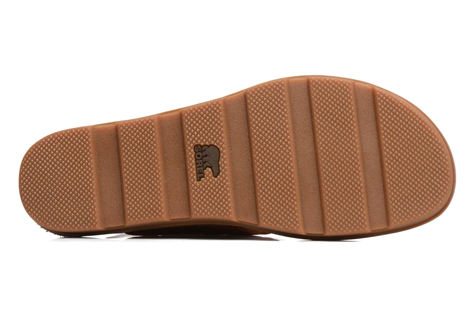 Sandals Sorel Torpeda Ankle Strap Brown view from above