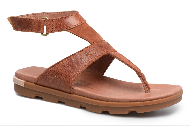 Sandales et nu-pieds Sorel Torpeda Ankle Strap Marron vue détail/paire