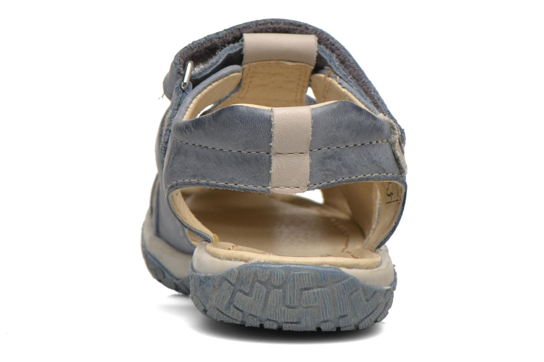 Sandales et nu-pieds Noël Tyler Bleu vue droite