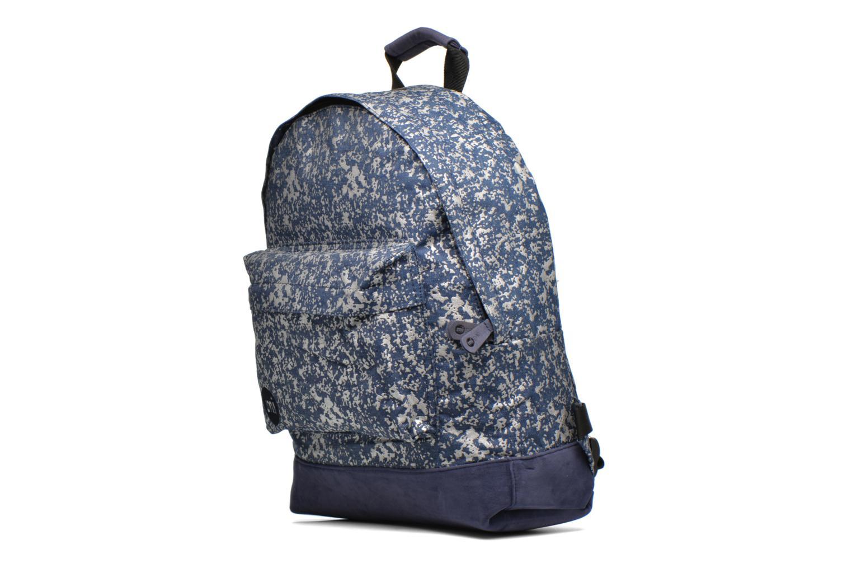 Sacs à dos Mi-Pac Premium Denim Spatter Backpack Bleu vue portées chaussures