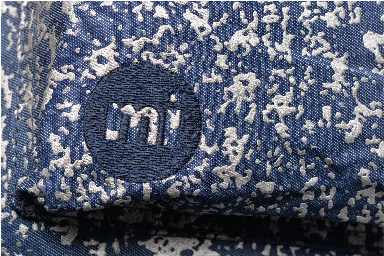 Sacs à dos Mi-Pac Premium Denim Spatter Backpack Bleu vue gauche