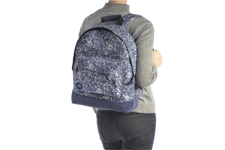 Sacs à dos Mi-Pac Premium Denim Spatter Backpack Bleu vue haut