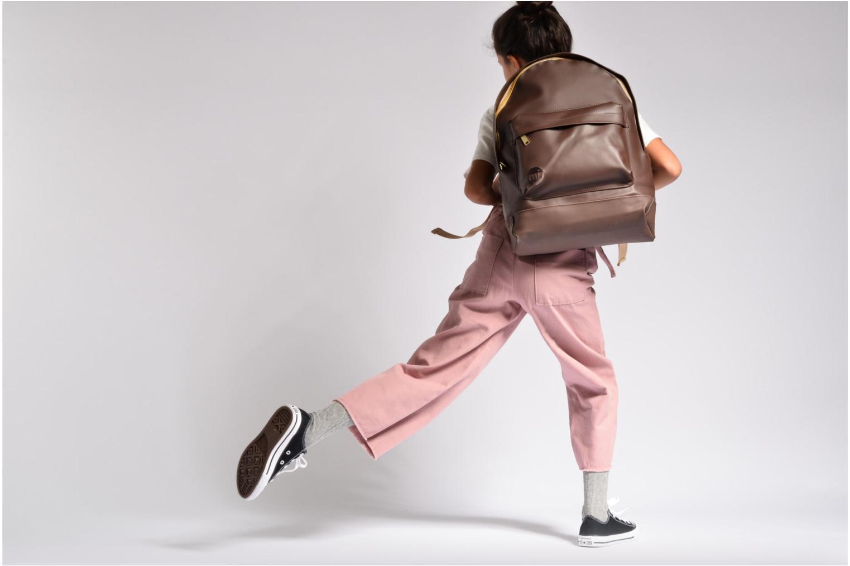 Sacs à dos Mi-Pac Gold Backpack Marron vue haut