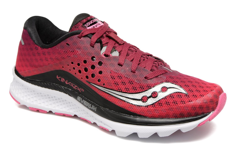 Chaussures de sport Saucony Kinvara 8 W Rose vue détail/paire
