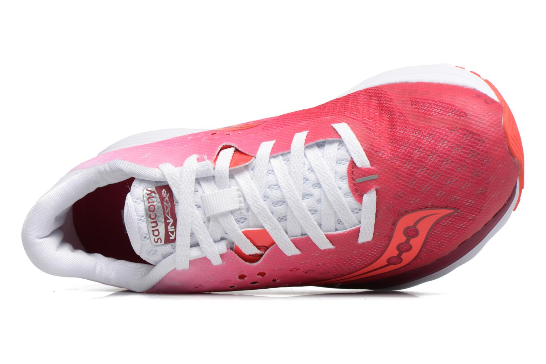 Chaussures de sport Saucony Kinvara 8 W Rose vue gauche