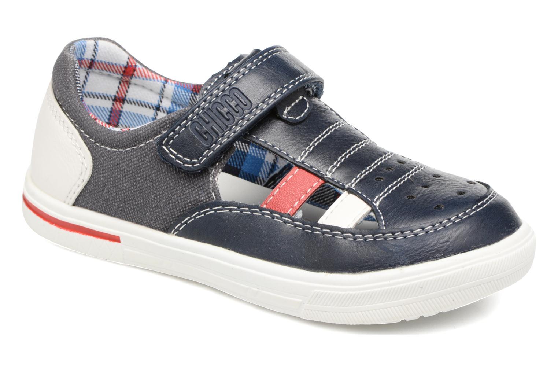 Chaussures à scratch Chicco Camino Bleu vue détail/paire