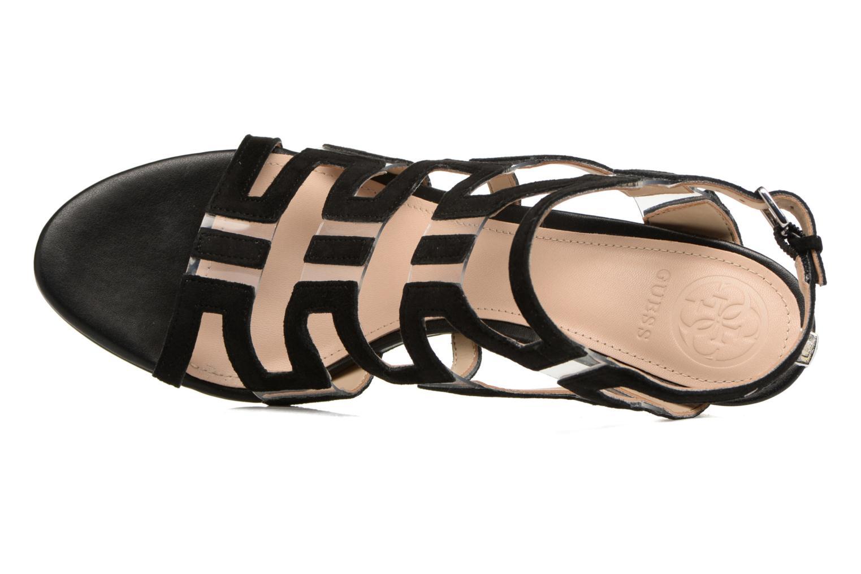 Sandales et nu-pieds Guess CYARRA Noir vue gauche