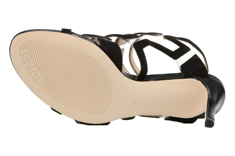 Sandales et nu-pieds Guess CYARRA Noir vue haut