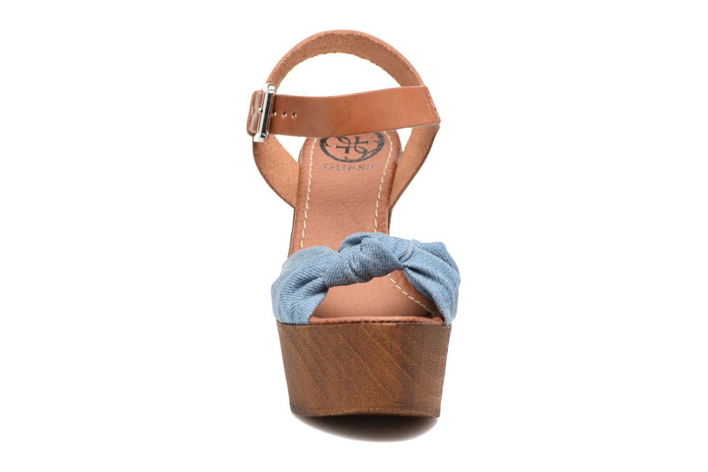 Sandales et nu-pieds Guess BETTA Bleu vue portées chaussures