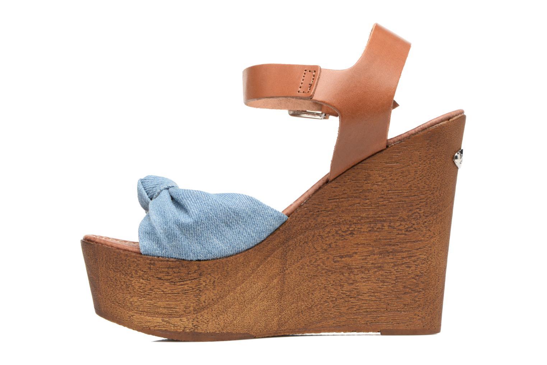 Sandales et nu-pieds Guess BETTA Bleu vue face