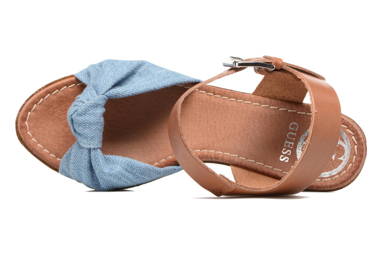 Sandales et nu-pieds Guess BETTA Bleu vue gauche