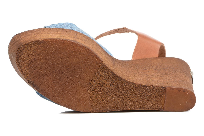 Sandales et nu-pieds Guess BETTA Bleu vue haut