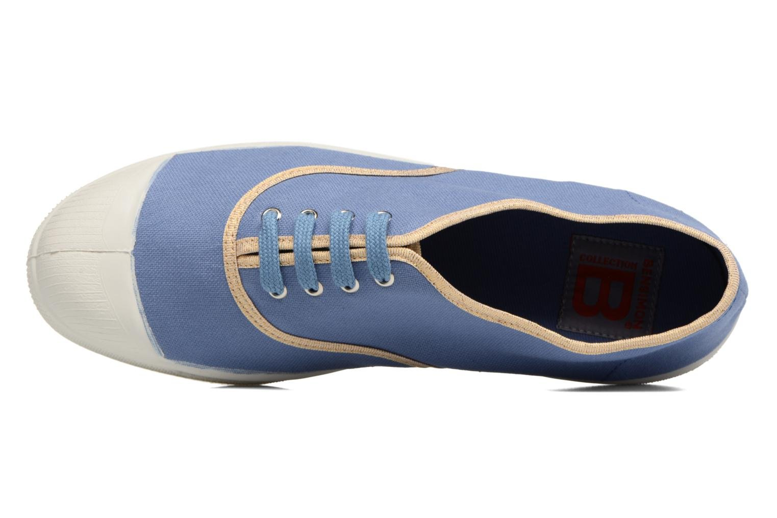 Trainers Bensimon Tennis Shinypiping Blue view from the left
