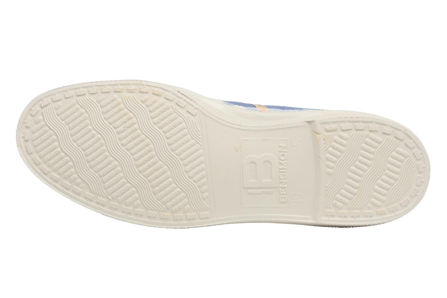 Trainers Bensimon Tennis Shinypiping Blue view from above