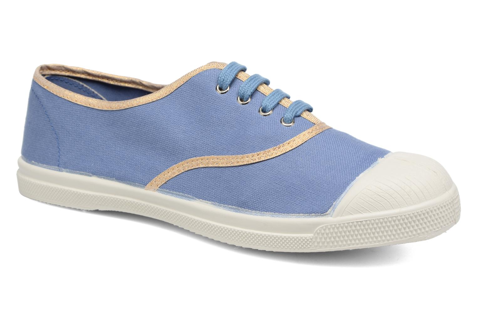 Trainers Bensimon Tennis Shinypiping Blue detailed view/ Pair view