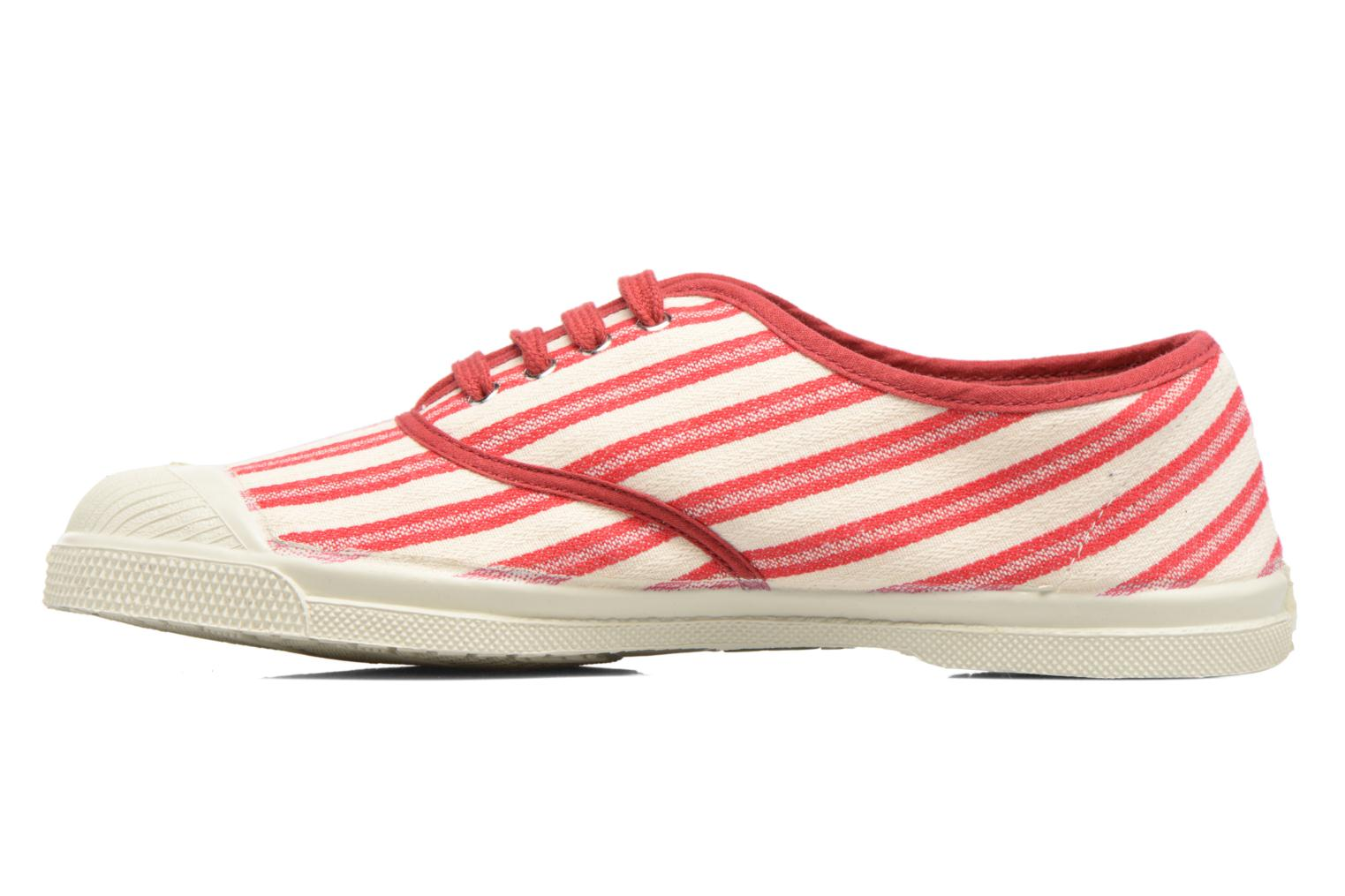 Trainers Bensimon Tennis Rayures Transat Red front view