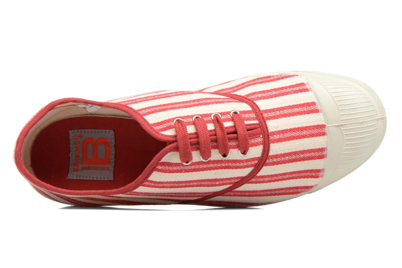 Tennis Rayures Transat Rouge