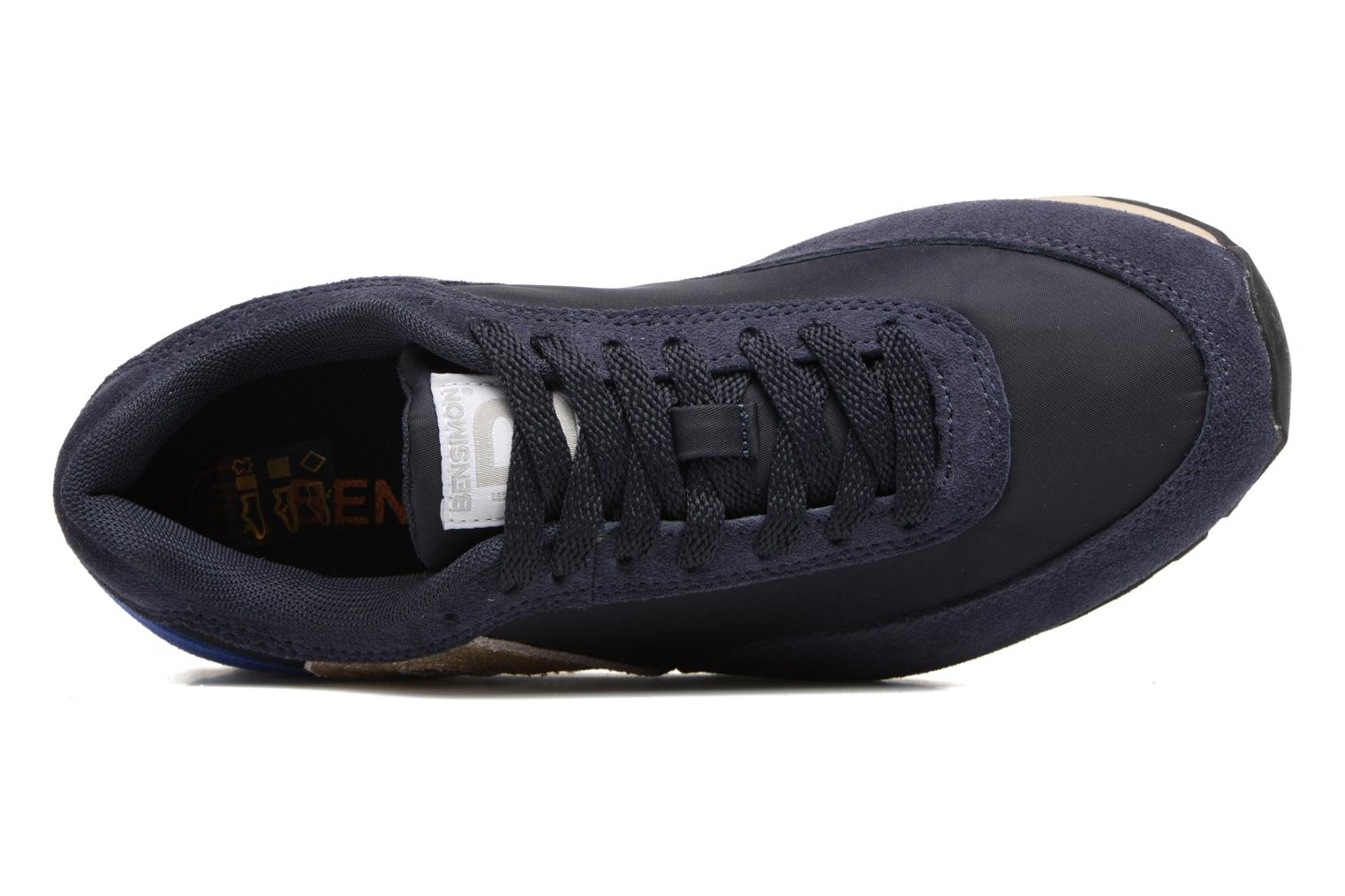 Trainers Bensimon Runnings Blue view from the left