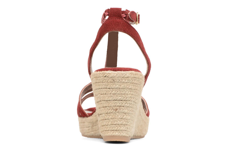 Sandales et nu-pieds Bensimon Compensée Tressée Bordeaux vue droite
