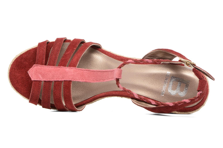 Sandales et nu-pieds Bensimon Compensée Tressée Bordeaux vue gauche