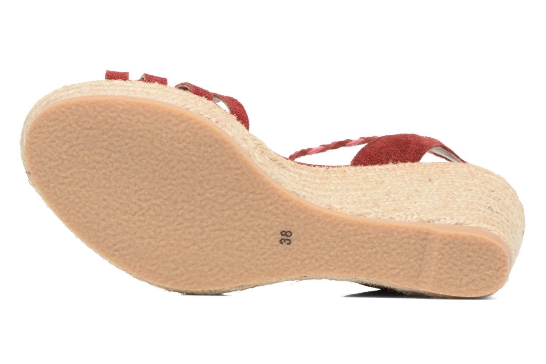 Sandales et nu-pieds Bensimon Compensée Tressée Bordeaux vue haut