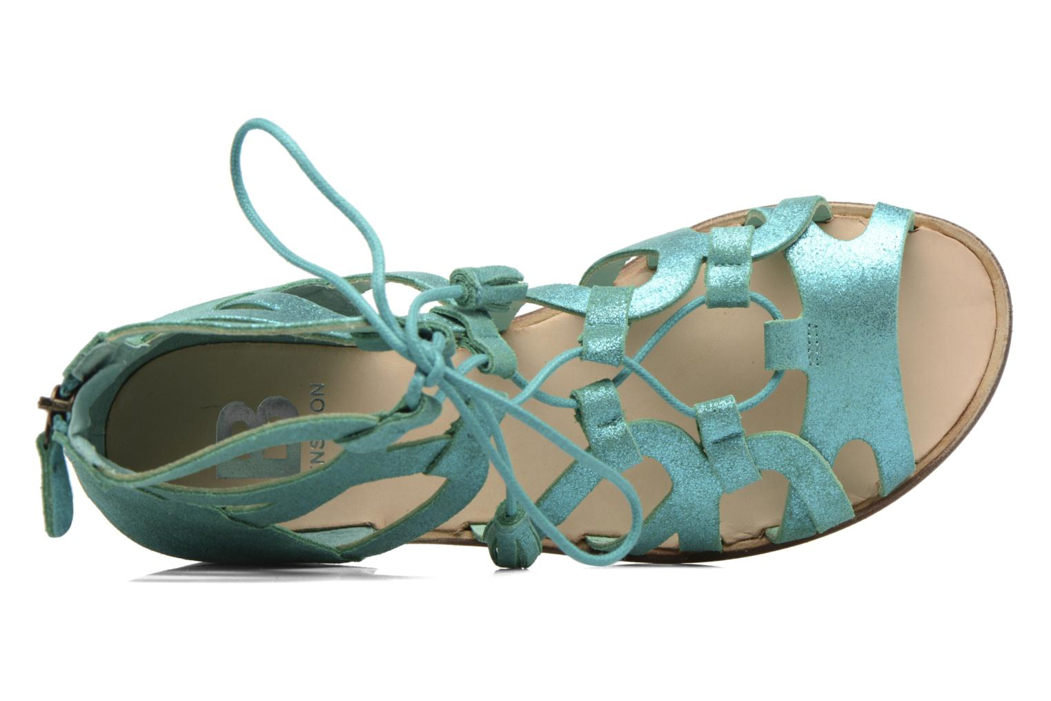 Sandals Bensimon Spartiate Montante Blue view from the left