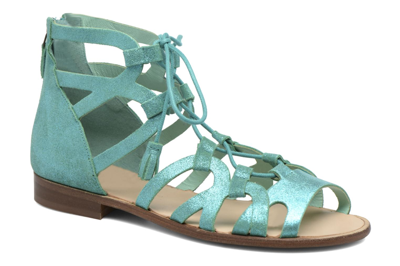 Sandals Bensimon Spartiate Montante Blue detailed view/ Pair view