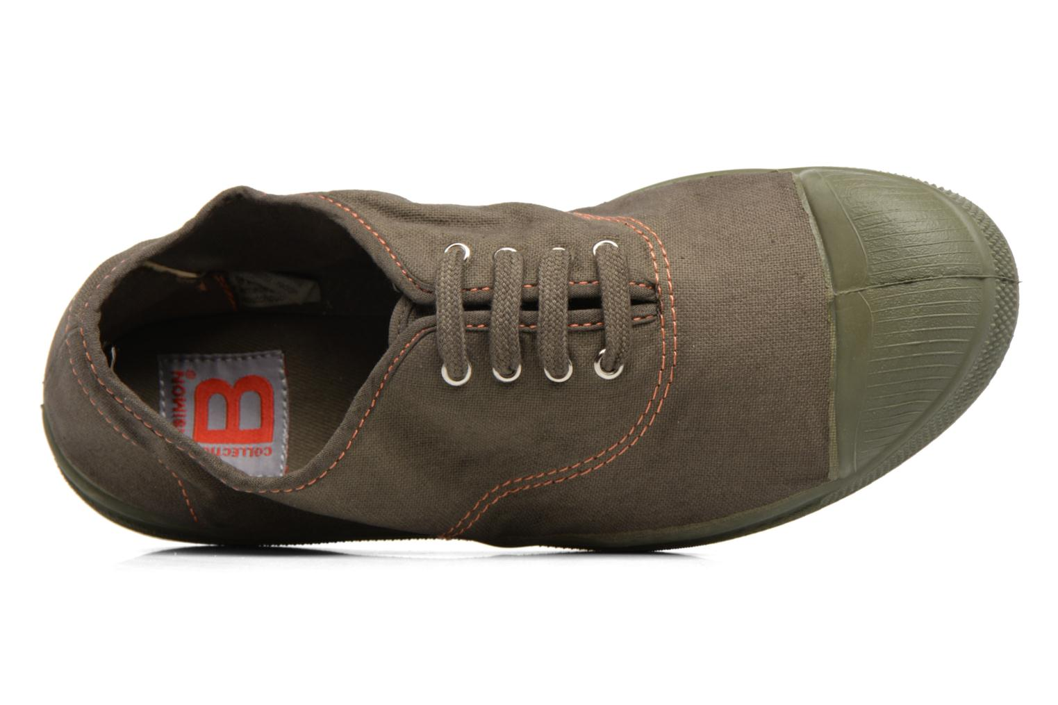 Trainers Bensimon Tennis Militaire Green view from the left
