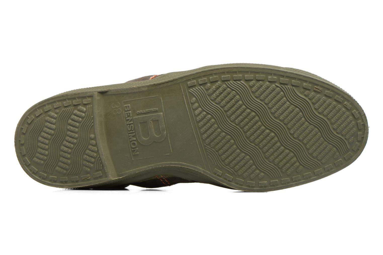 Trainers Bensimon Tennis Militaire Green view from above