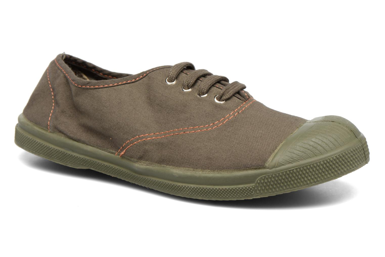Trainers Bensimon Tennis Militaire Green detailed view/ Pair view