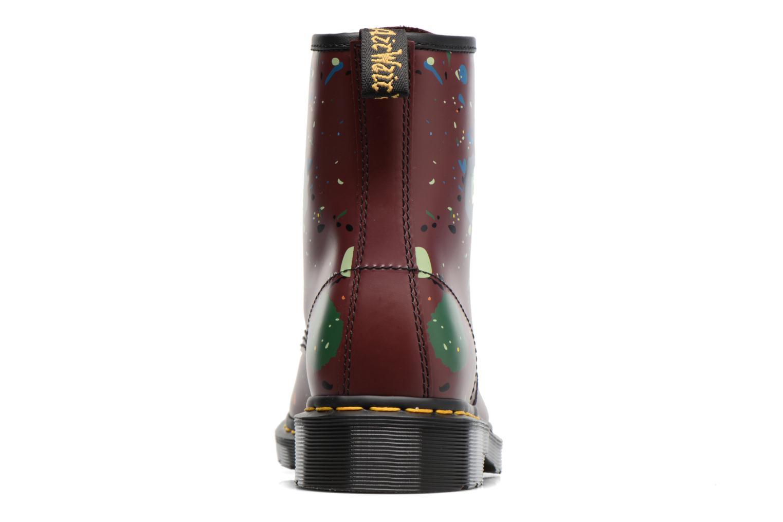 Bottines et boots Dr. Martens 1460 Splatter Rouge vue droite