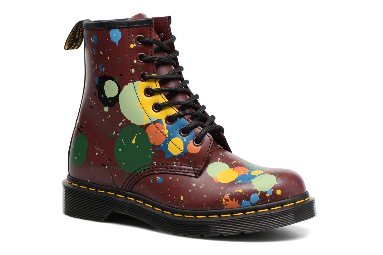 Bottines et boots Dr. Martens 1460 Splatter Rouge vue détail/paire