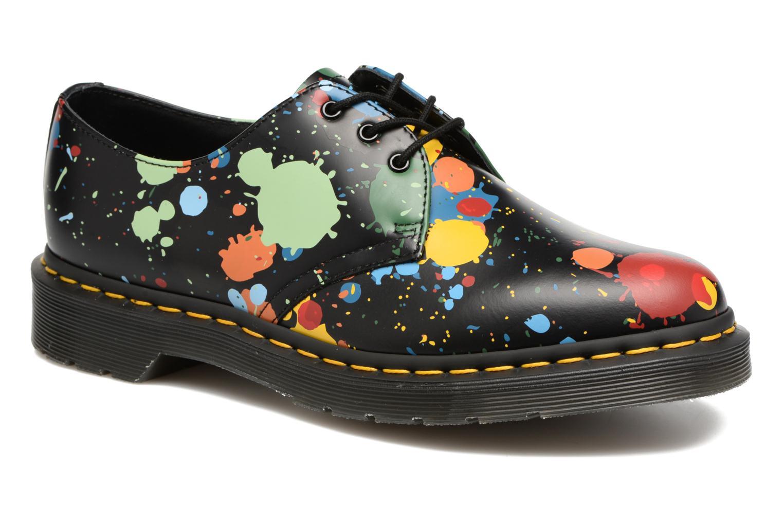 Chaussures à lacets Dr. Martens 1461 Splatter Noir vue détail/paire