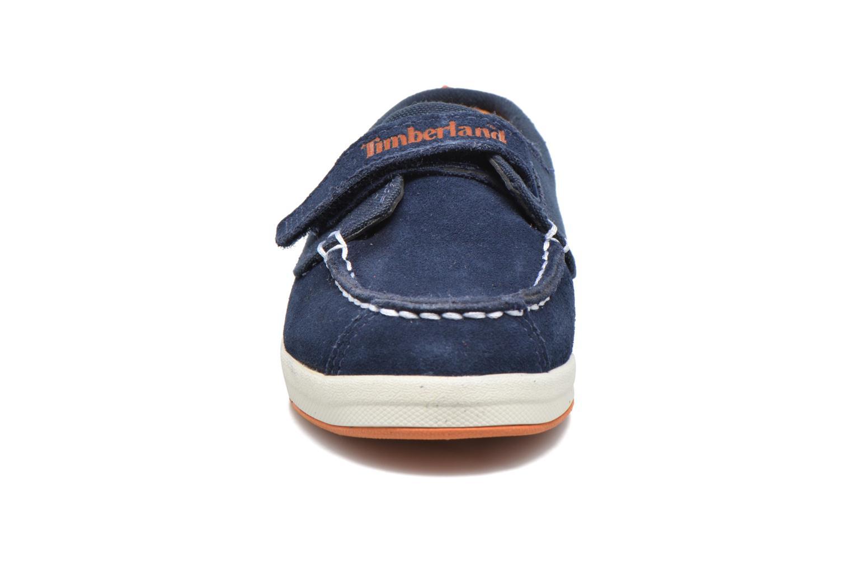 Chaussures à scratch Timberland Dover Bay H&L Boat Bleu vue portées chaussures