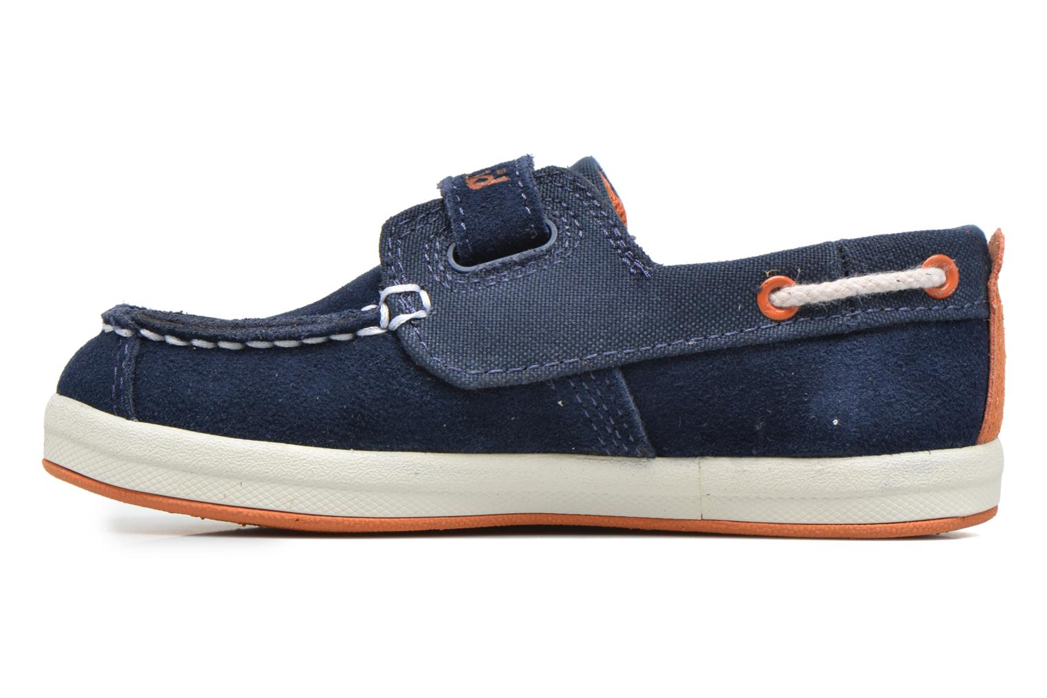 Velcro shoes Timberland Dover Bay H&L Boat Blue front view